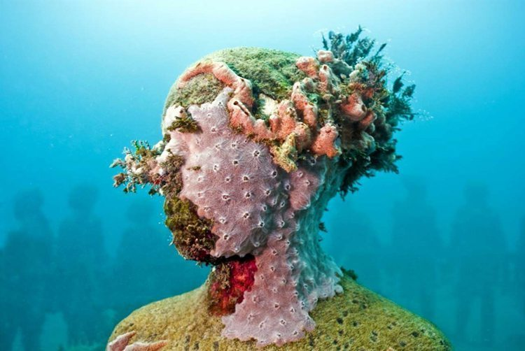 Viccisitudes. Depth 5m, Grenada, West Indies. Photo: Jason Decaires Taylor