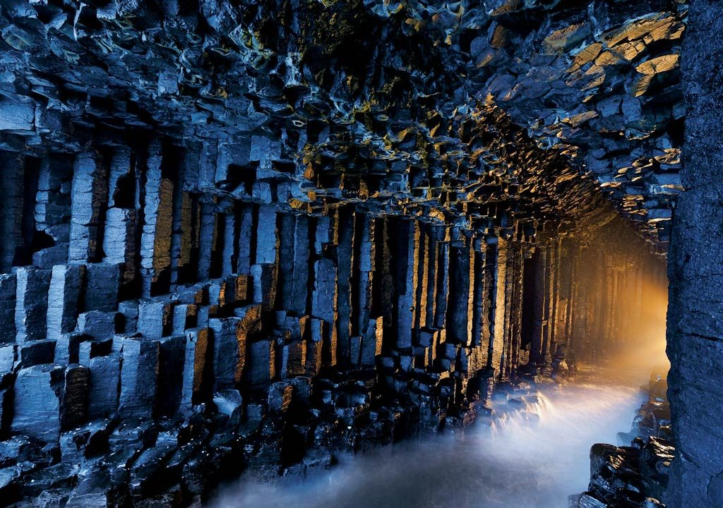 The Fingal's Cave on Staffa, in the Inner Hebrides of Scotland. Image: National Geographic.