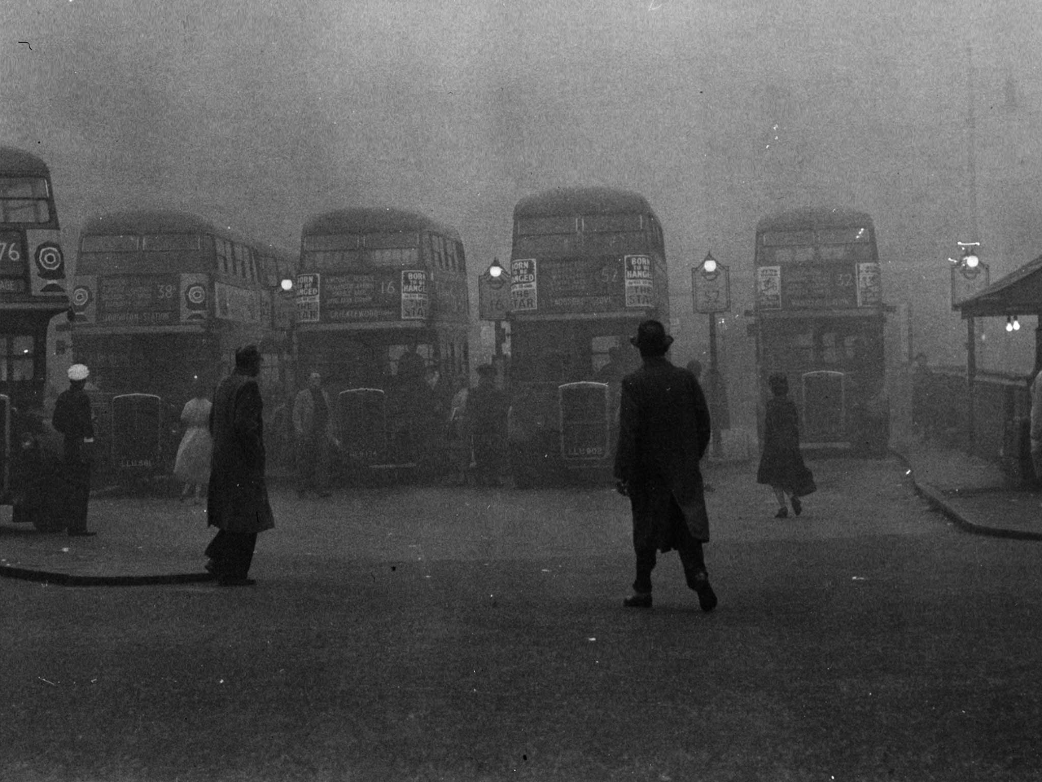 1952 london smog disaster Trafalgar square in london during the great smog of 1952  expect for] a  natural disaster: they set up a triage center in the community center.