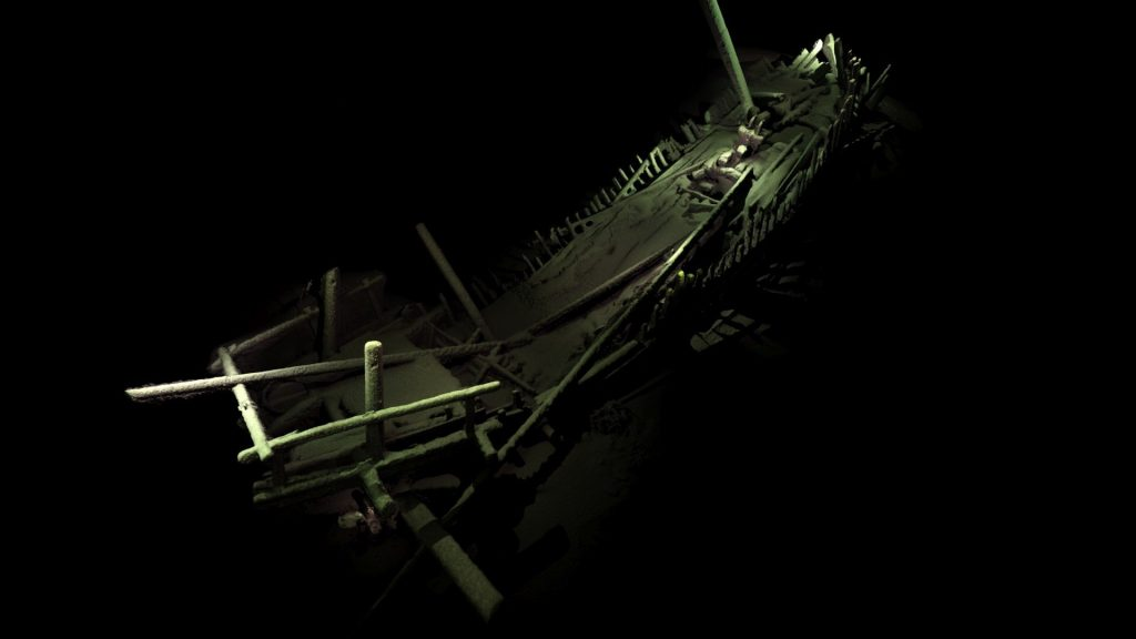 Medieval ship from the depths of the Black Sea