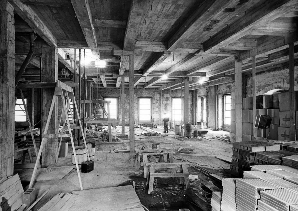 Demolition of the Second Floor Oval Study and the Blue Room below, March 1950